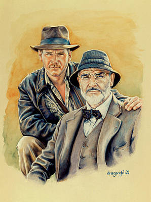 Hero Drawing - The Jones Boys by Edward Draganski