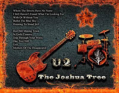 U2 Digital Art - The Joshua Tree by Michael Damiani