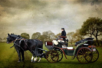 Carriage Mixed Media - The Journay In To The Past by Heike Hultsch