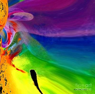 Digital Art - The Journey by Annie Zeno