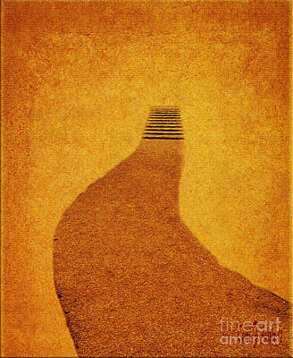 The Journey Pathway Minimalism Art Print