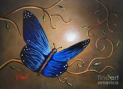 Fluttering Painting - The Journey Home By Shawna Erback by Shawna Erback
