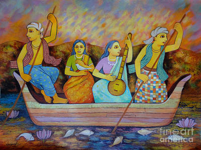 Indian Musical Instrument Painting - The Journey by Jaspal Singh