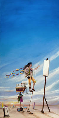 Painting - The Journey Of A Painter by Cindy D Chinn