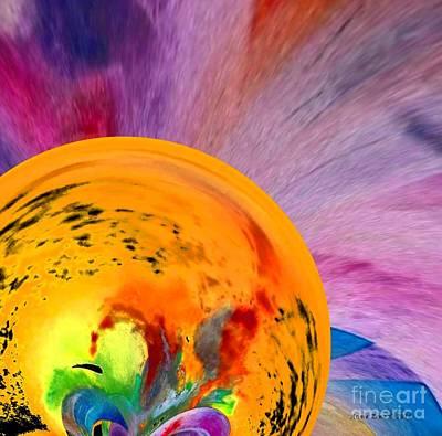 Digital Art - The Journey Stage 2 by Annie Zeno