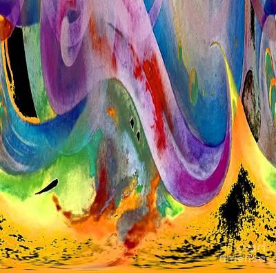 Digital Art - The Journey Stage 3 by Annie Zeno