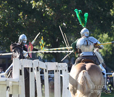 Photograph - The Jousting Contest  by John Telfer