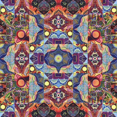 The Joy Of Design Mandala Series Puzzle 1 Arrangement 1 Art Print