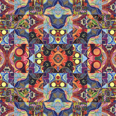 Digital Art - The Joy Of Design Mandala Series Puzzle 1 Arrangement 2 by Helena Tiainen