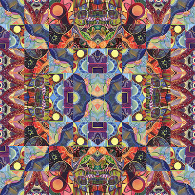 Digital Art - The Joy Of Design Mandala Series Puzzle 1 Arrangement 4 by Helena Tiainen