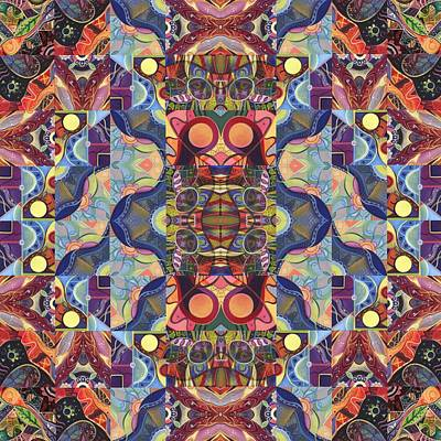 Digital Art - The Joy Of Design Mandala Series Puzzle 1 Arrangement 5 by Helena Tiainen