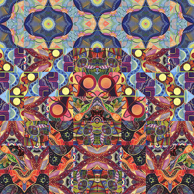 Digital Art - The Joy Of Design Mandala Series Puzzle 1 Arrangement 6 by Helena Tiainen