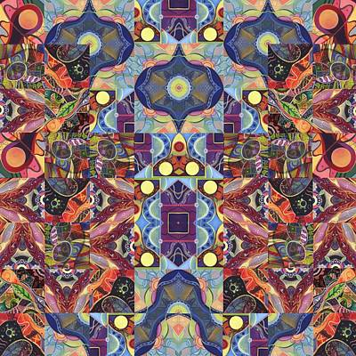 Digital Art - The Joy Of Design Mandala Series Puzzle 1 Arrangement 7 by Helena Tiainen
