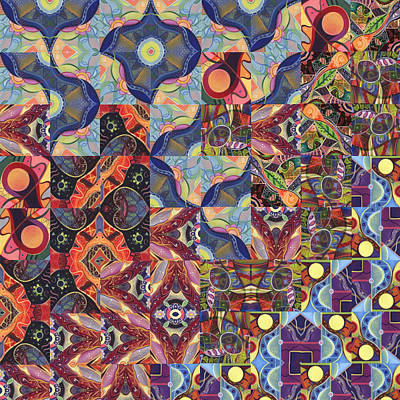 Digital Art - The Joy Of Design Mandala Series Puzzle 1 Arrangement 8 by Helena Tiainen