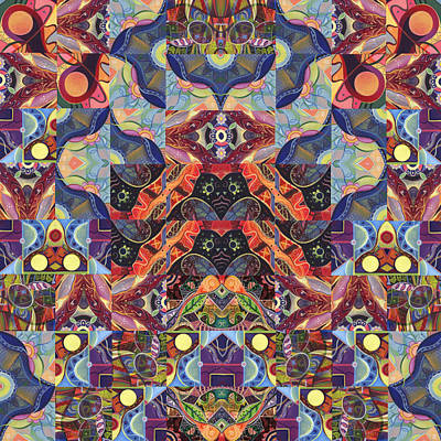 Digital Art - The Joy Of Design Mandala Series Puzzle 1 Arrangement 9 by Helena Tiainen