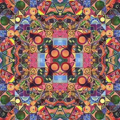Digital Art - The Joy Of Design Mandala Series Puzzle 2 Arrangement 1 by Helena Tiainen