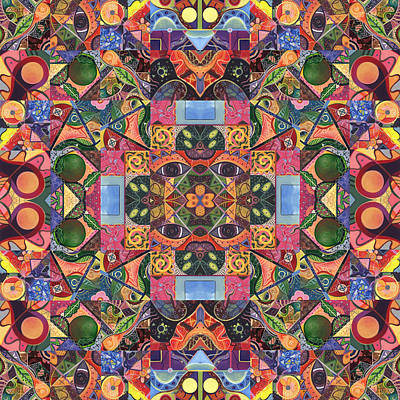 Digital Art - The Joy Of Design Mandala Series Puzzle 2 Arrangement 2 by Helena Tiainen