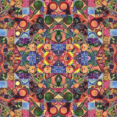 Painting - The Joy Of Design Mandala Series Puzzle 2 Arrangement 3 by Helena Tiainen