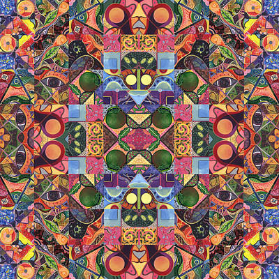 Digital Art - The Joy Of Design Mandala Series Puzzle 2 Arrangement 4 by Helena Tiainen