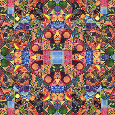 Digital Art - The Joy Of Design Mandala Series Puzzle 2 Arrangement 5 by Helena Tiainen
