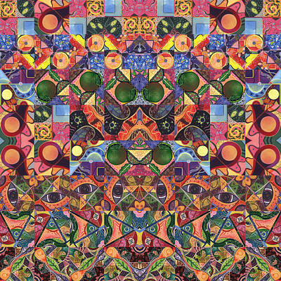 Digital Art - The Joy Of Design Mandala Series Puzzle 2 Arrangement 6 by Helena Tiainen