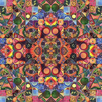 Digital Art - The Joy Of Design Mandala Series Puzzle 2 Arrangement 7 by Helena Tiainen