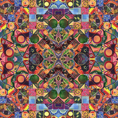 Digital Art - The Joy Of Design Mandala Series Puzzle 2 Arrangement 8 by Helena Tiainen