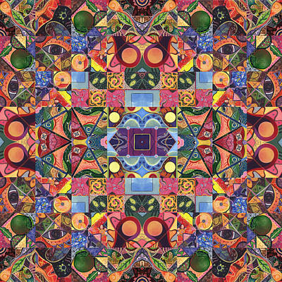 Digital Art - The Joy Of Design Mandala Series Puzzle 2 Arrangement 9 by Helena Tiainen