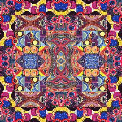 Painting - The Joy Of Design Mandala Series Puzzle 3 Arrangement 1 by Helena Tiainen