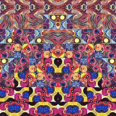 Digital Art - The Joy Of Design Mandala Series Puzzle 3 Arrangement 9 by Helena Tiainen