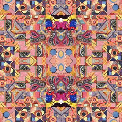 Painting - The Joy Of Design Mandala Series Puzzle 4 Arrangement 3 by Helena Tiainen
