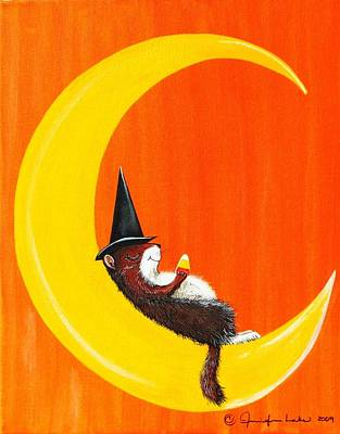Painting - The Joy Of Halloween by Jennifer Lake