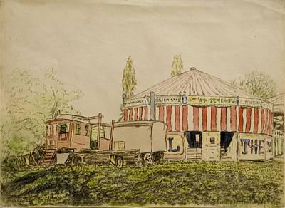 Amusements Drawing - The Joy Wheel, Mitcham by John Doman Turner