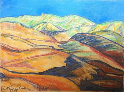 Drawing - The Judean Desert by Esther Newman-Cohen