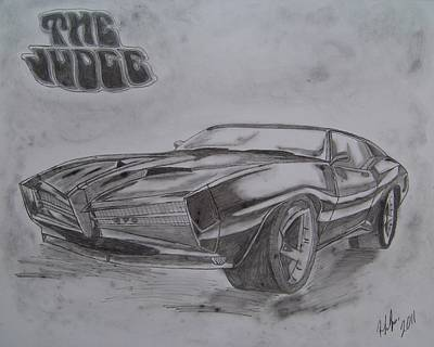 Pontiac Drawing - The Judge by Rebecca LaFrance