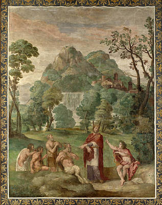Painting - The Judgement Of Midas by Domenichino and Assistants
