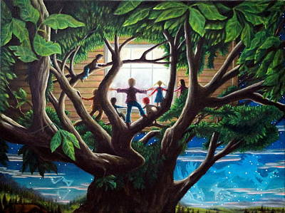 Treehouse Painting - The Judgement  The Unseen And The Rendering by Matt Konar