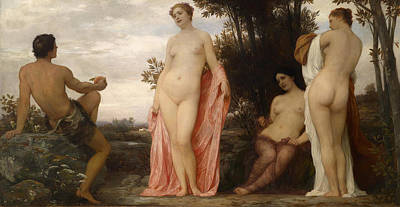 Judgment Painting - The Judgment Of Paris by Eduard Lebiedzki