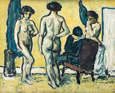 Judgment Painting - The Judgment Of Paris by Harald Giersing