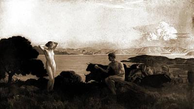 The Judgment Of Paris, Menard, Emile Renard Art Print