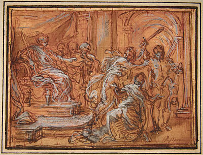 Judgment Painting - The Judgment Of Solomon by Celestial Images