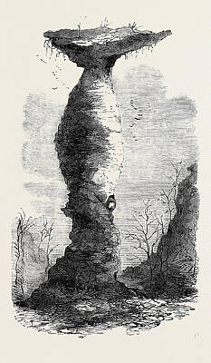 The Jug Rock In Southern Indiana 1869 Art Print