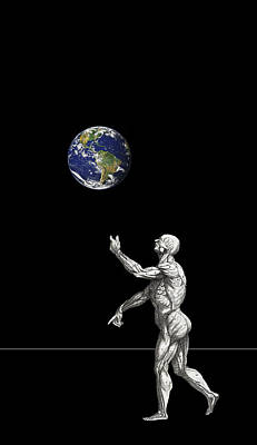 Old Man Digital Art - The Juggler by Daniel Hagerman