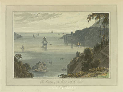 The Junction Of The Dart With The Sea Art Print by British Library