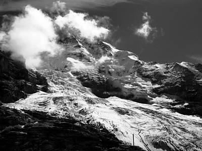 Jungfraujoch Photograph - The Jungfraujoch Glacier by Raffi  Bashlian
