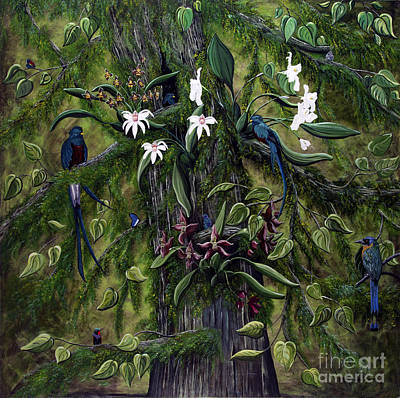 Painting - The Jungle Of Guatemala by Jennifer Lake