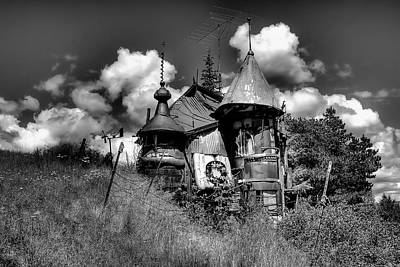 Photograph - The Junk Castle In Black And White by David Patterson