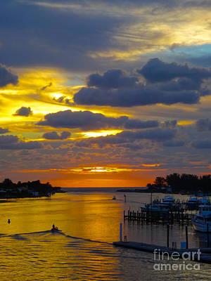 Jupiter Inlet Photograph - The Jupiter Inlet At Sunrise by Elisa Yinh