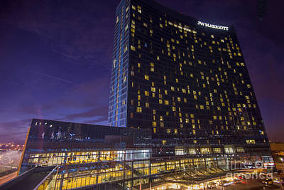 Photograph - The Jw Marriott Night 25 by David Haskett