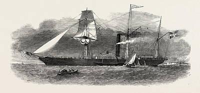 The Jylland, Danish Government Steamer Print by English School
